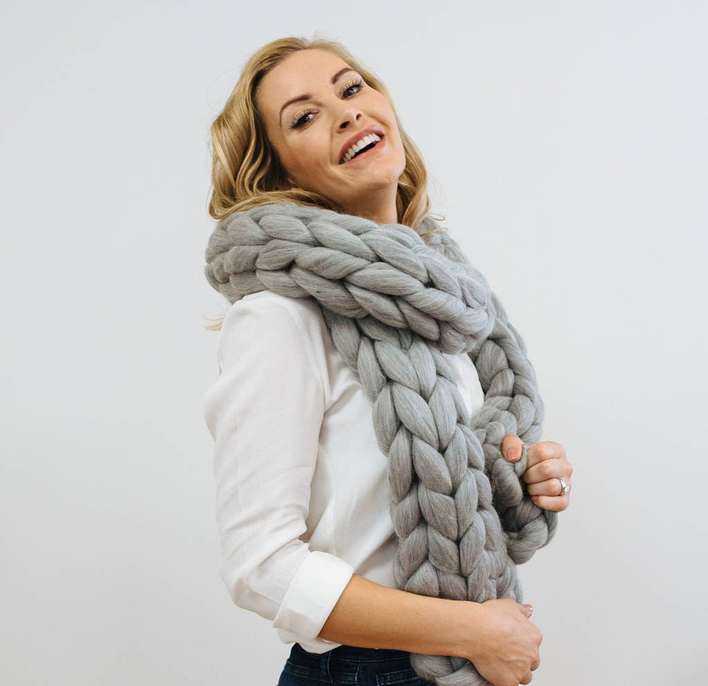 Luxury Giant Chunky Knit Scarf by Wool Couture Chunky Knit Scarf Of Top 50 Photos Chunky Knit Scarf