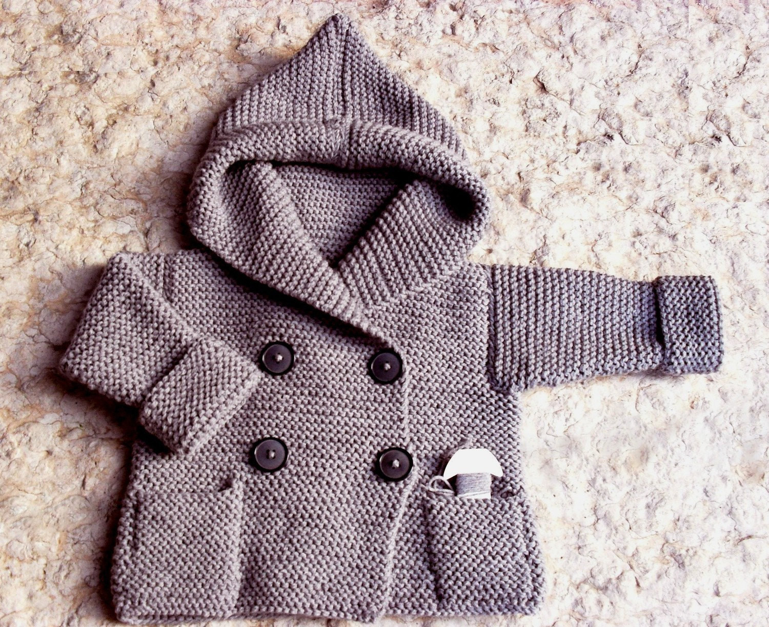Luxury Hand Knit Duffel Coat for Baby Light Grey Pure Wool or Hand Knitting Wool Of Great 44 Photos Hand Knitting Wool