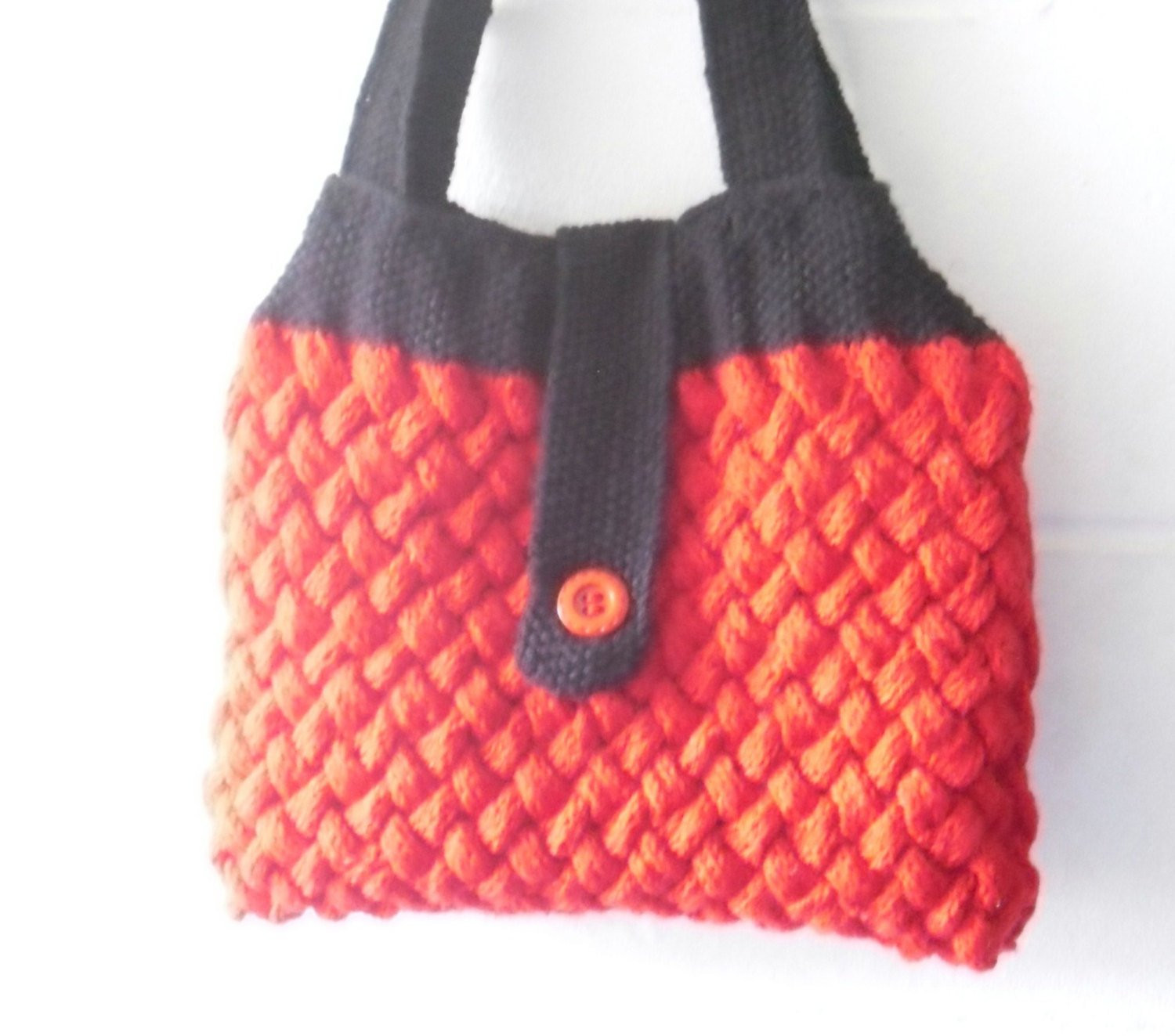 Luxury Hand Knitted Bag Red and Black Cable Knit Handbag by Kezylou Knitted Purse Of Amazing 41 Pics Knitted Purse