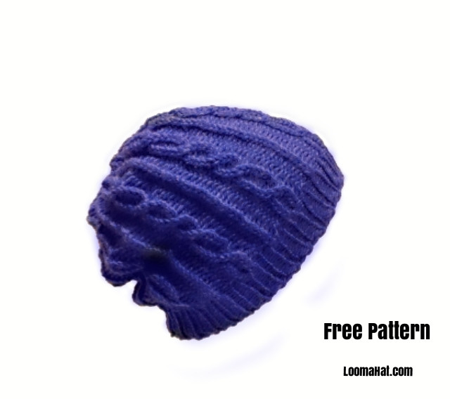 Luxury Hat Blue Slouchy 60 Rnds Loomahat Making A Hat On A Loom Of Attractive 43 Pics Making A Hat On A Loom