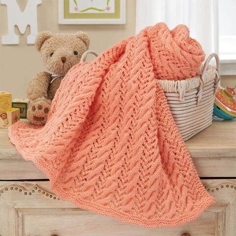 Luxury Herrschners Cable & Lace Baby Blanket Knit Afghan Kit Blanket Knitting Kit Of Lovely 47 Models Blanket Knitting Kit