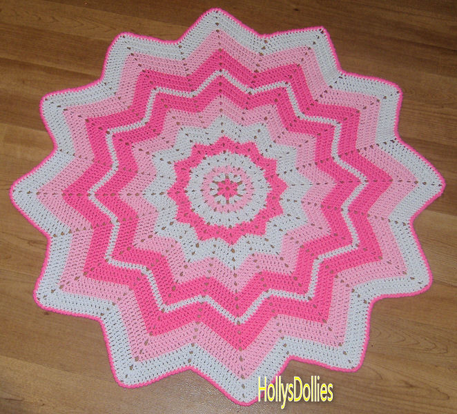Luxury Hollys Crafts Blog Crocheted Round Ripple Baby Blanket In Round Crochet Blanket Of Fresh 46 Models Round Crochet Blanket