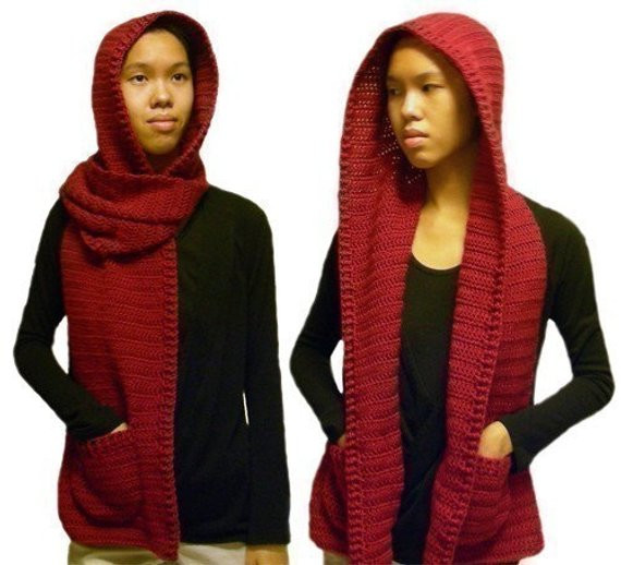 Luxury Hooded Scarf 3 Sizes Pdf Crochet Pattern Instant Hooded Scarf Pattern Of Brilliant 43 Pics Hooded Scarf Pattern