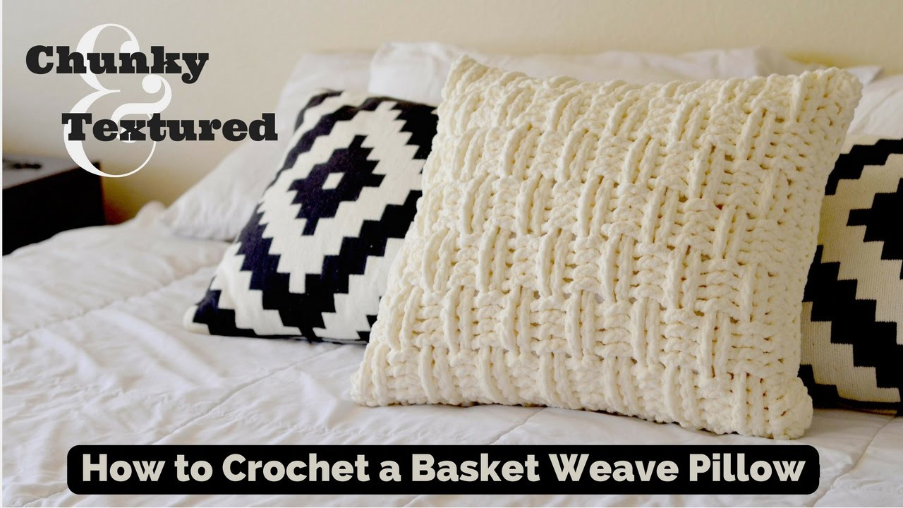 Luxury How to Crochet A Textured and Chunky Basket Weave Throw Crochet Pillow Covers Of Incredible 47 Pics Crochet Pillow Covers
