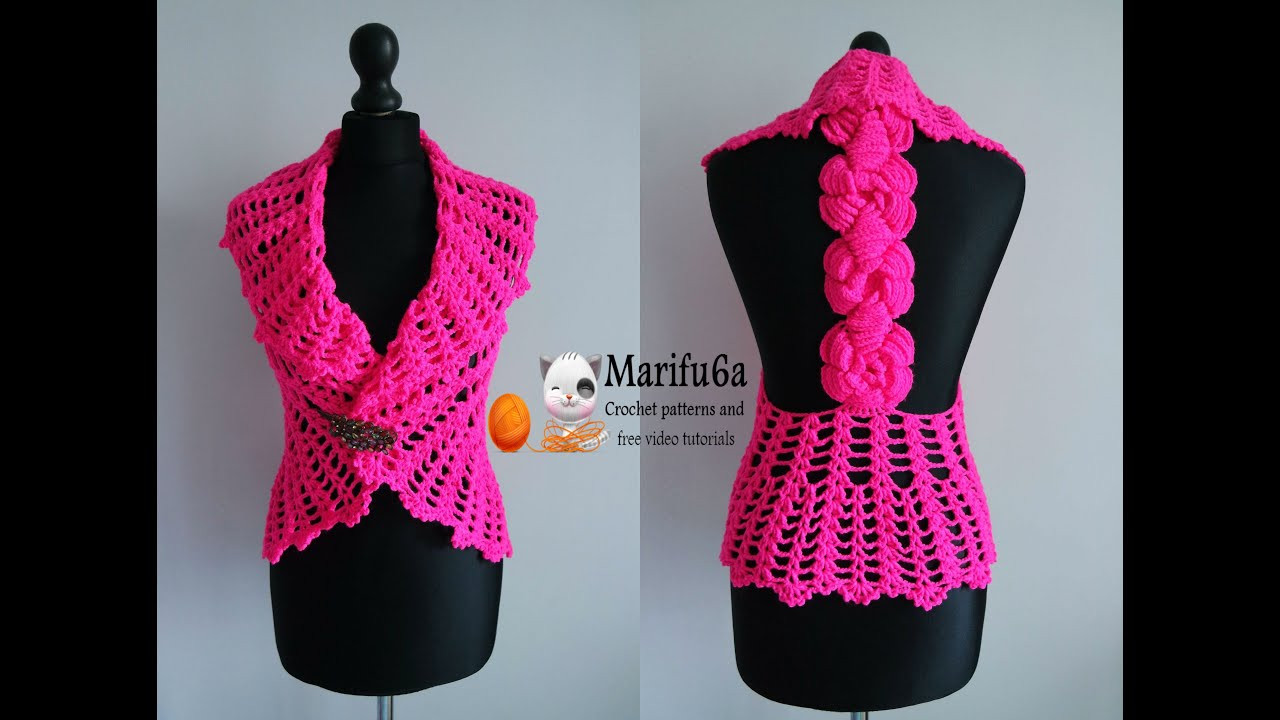 Luxury How to Crochet Vest Bolero Jacket with Roses Chaleco Free Youtube Crochet Patterns Of Contemporary 46 Ideas Youtube Crochet Patterns