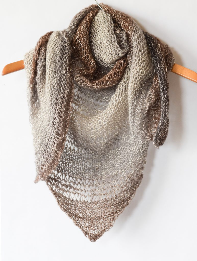 Luxury How to Knit An Easy Triangle Wrap – Mama In A Stitch Easy Knit Scarf Pattern Free Of Top 44 Photos Easy Knit Scarf Pattern Free