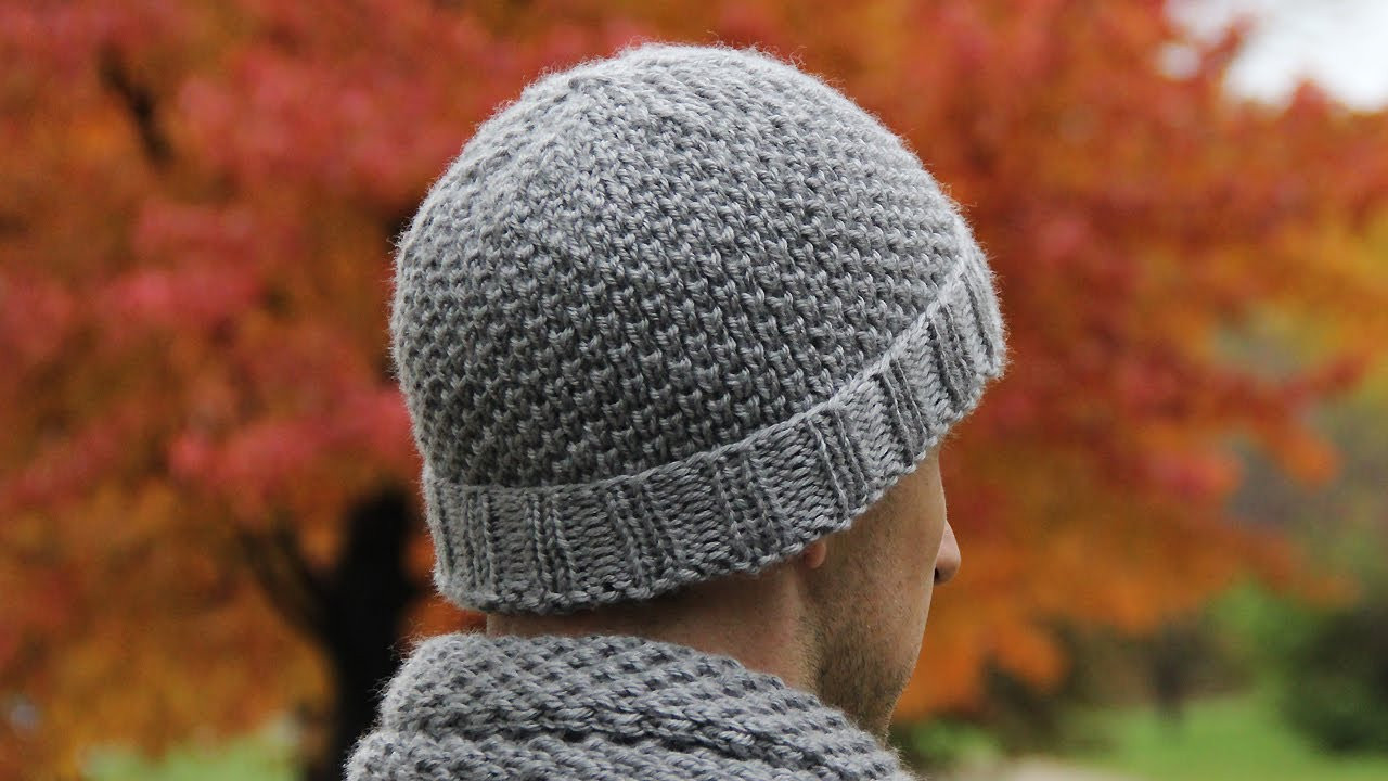 Luxury How to Knit Men S Hat Video Tutorial with Detailed In Mens Knit Caps Of Delightful 41 Ideas Mens Knit Caps