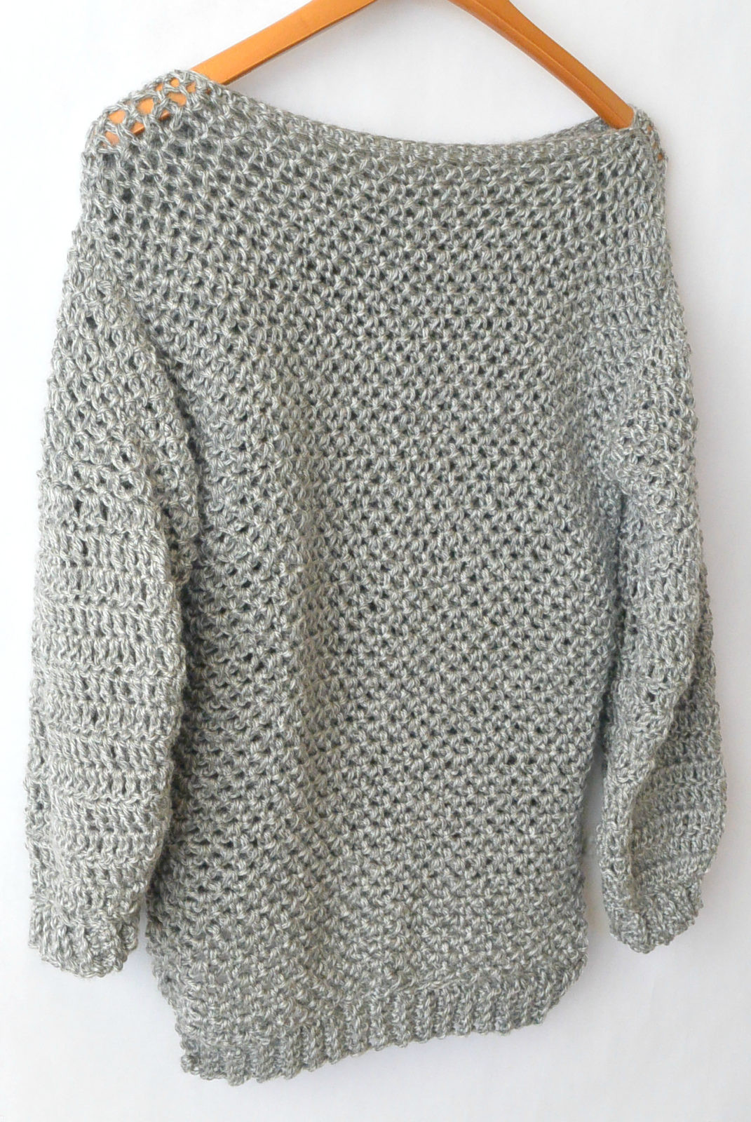 How To Make An Easy Crocheted Sweater Knit Like – Mama