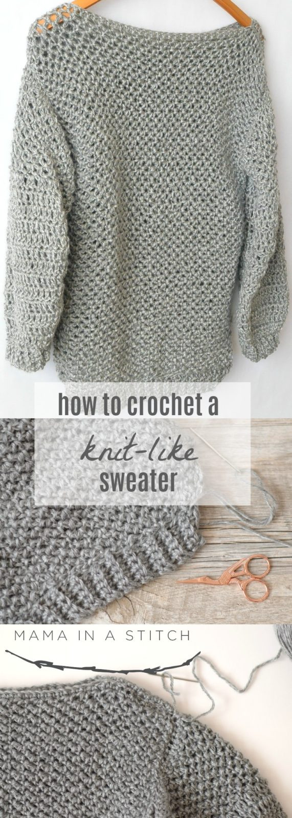 Luxury How to Make An Easy Crocheted Sweater Knit Like – Mama Sweaters Crochet Patterns Of Luxury 45 Images Sweaters Crochet Patterns