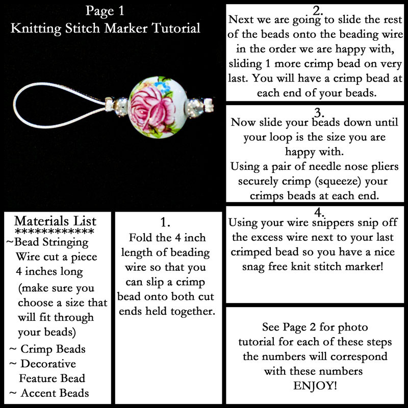 Luxury How to Make Gorgeous Stitch Markers Knitting Stitch Markers Of Gorgeous 48 Models Knitting Stitch Markers