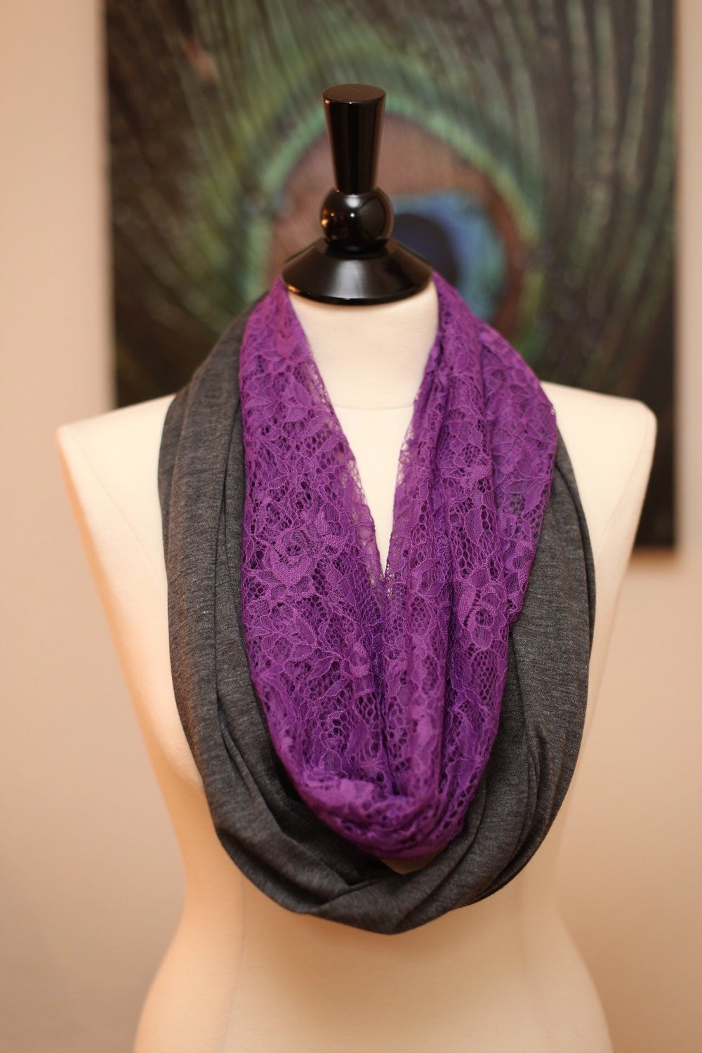 Luxury Infinity Scarf Jersey Knit and Lace Lace Infinity Scarf Of Charming 45 Ideas Lace Infinity Scarf