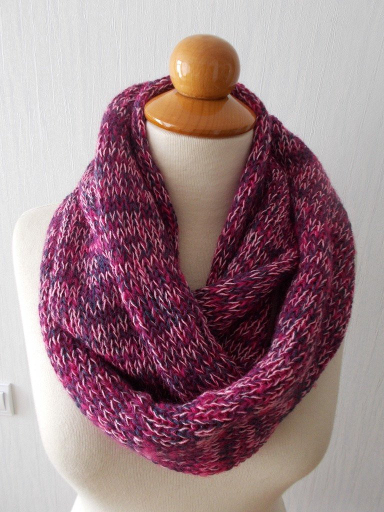 Luxury Infinity Scarf Knit Circular Tube Scarf In Pink Navy Purple Knit Circle Scarf Of Brilliant 47 Photos Knit Circle Scarf