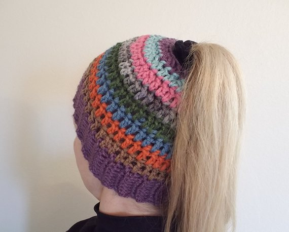 Luxury Items Similar to Ponytail Hat Messy Bun Hat Ponytail Beanie with Bun Hole Of Amazing 46 Photos Beanie with Bun Hole