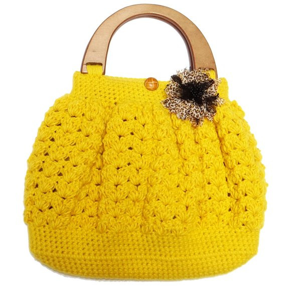 Luxury Items Similar to Shell Pattern Crochet Bag with Wooden Crochet Purse Handles Of Awesome 44 Pictures Crochet Purse Handles
