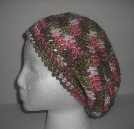 Luxury Items Similar to Slouchy Beanie Pink Camo Womens Handmade Pink Camouflage Yarn Of Charming 42 Pics Pink Camouflage Yarn