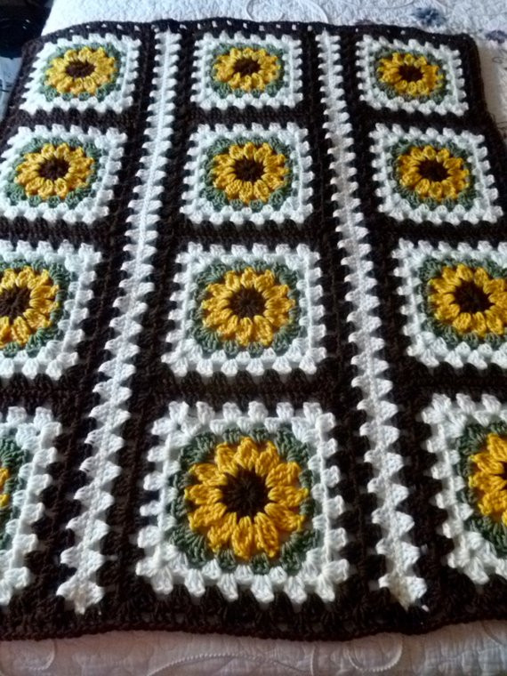 Luxury Items Similar to Sunflower Afghan On Etsy Sunflower Crochet Blanket Of Contemporary 48 Ideas Sunflower Crochet Blanket