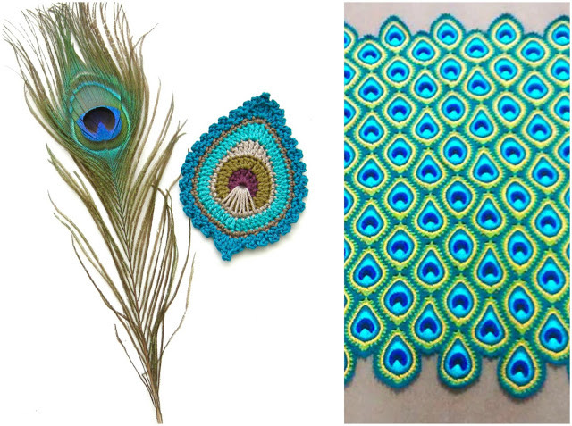 Luxury Java Peacock Feather Motif Blanket Free Jayg Instructions Crochet Peacock Feather Of Great 44 Models Crochet Peacock Feather