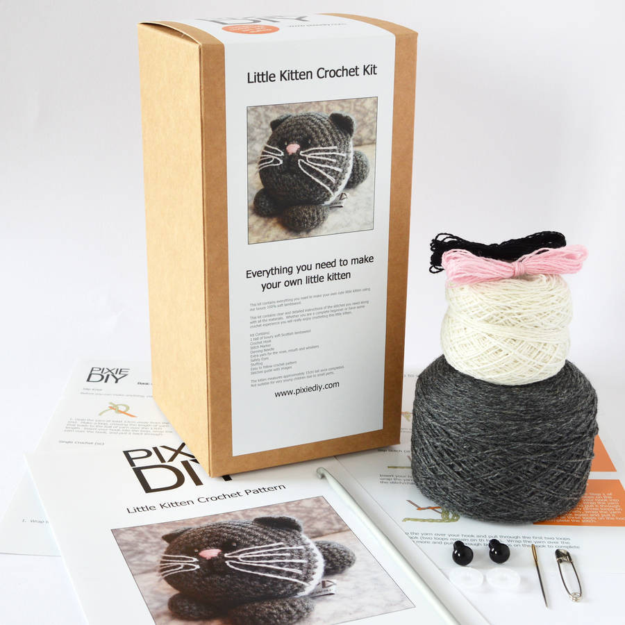 Luxury Kitten Learn to Crochet Kit by Warm Pixie Diy Learn to Crochet Kit Of Top 39 Pictures Learn to Crochet Kit