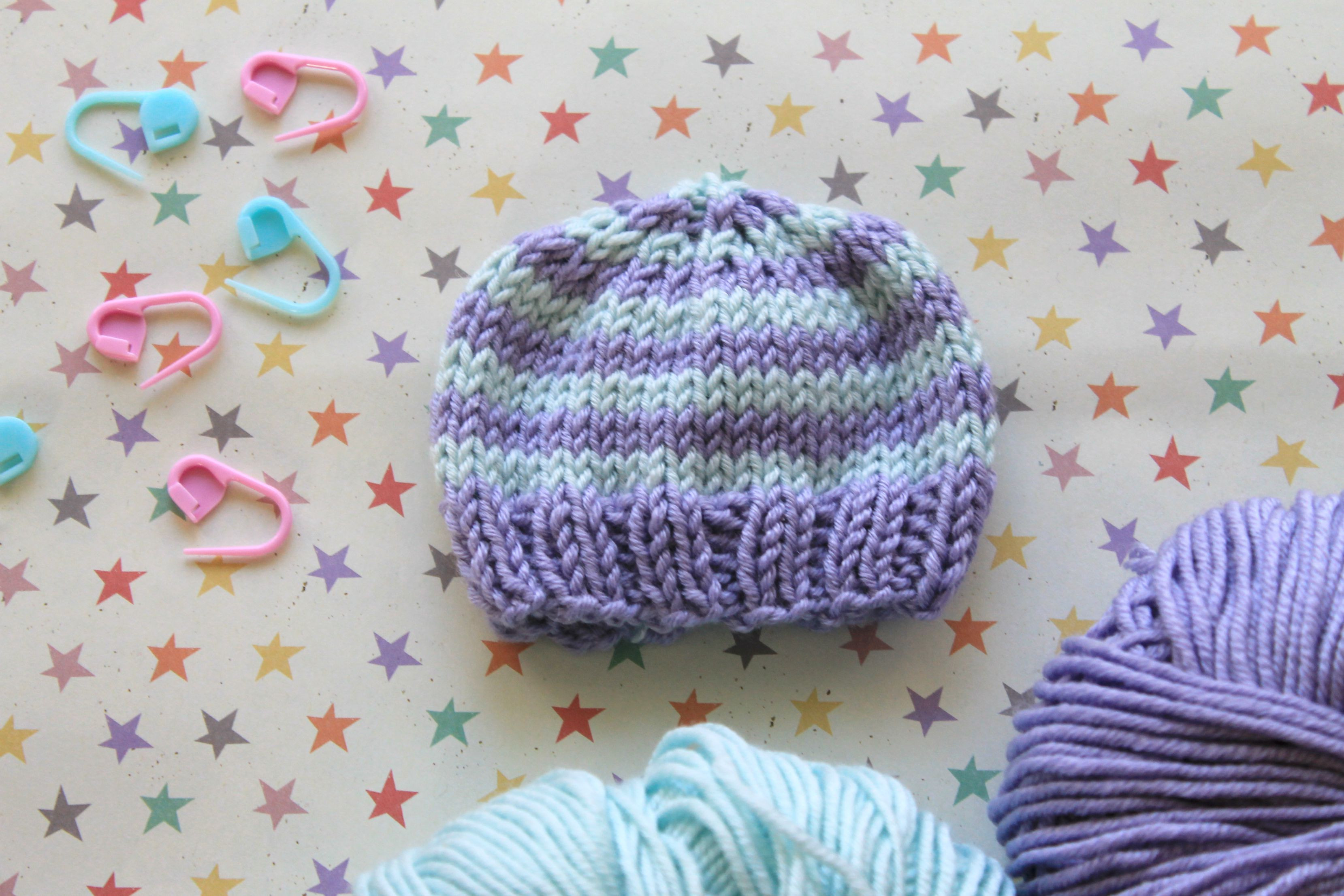 knit by bit perfect preemie baby hat