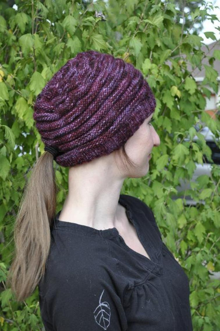Knit Ponytail Hat Patterns