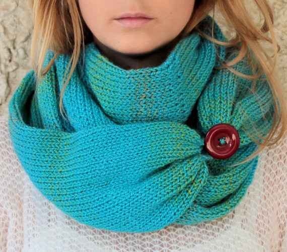 Luxury Knit Scarf with button Infinity Scarf Circle Scarf by Knit Circle Scarf Of Brilliant 47 Photos Knit Circle Scarf