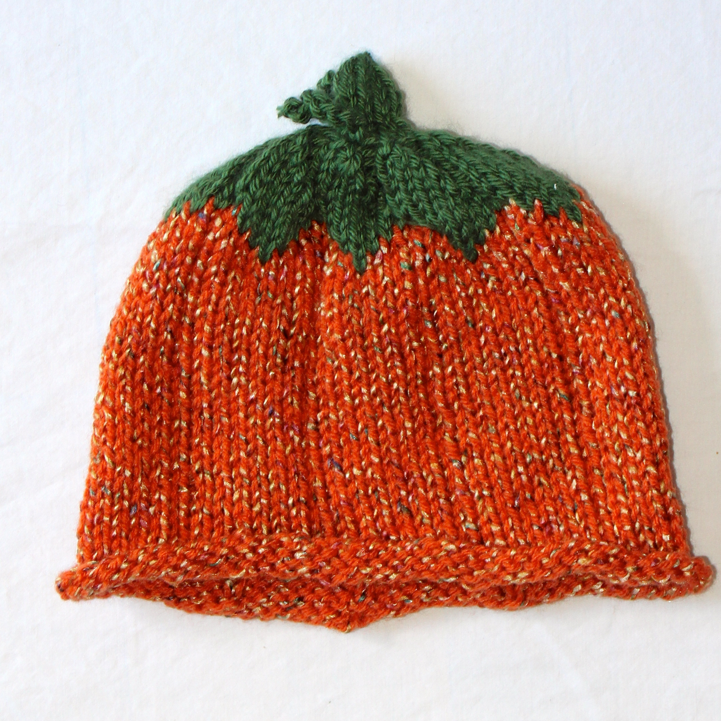 Knit Speckled Pumpkin Hat