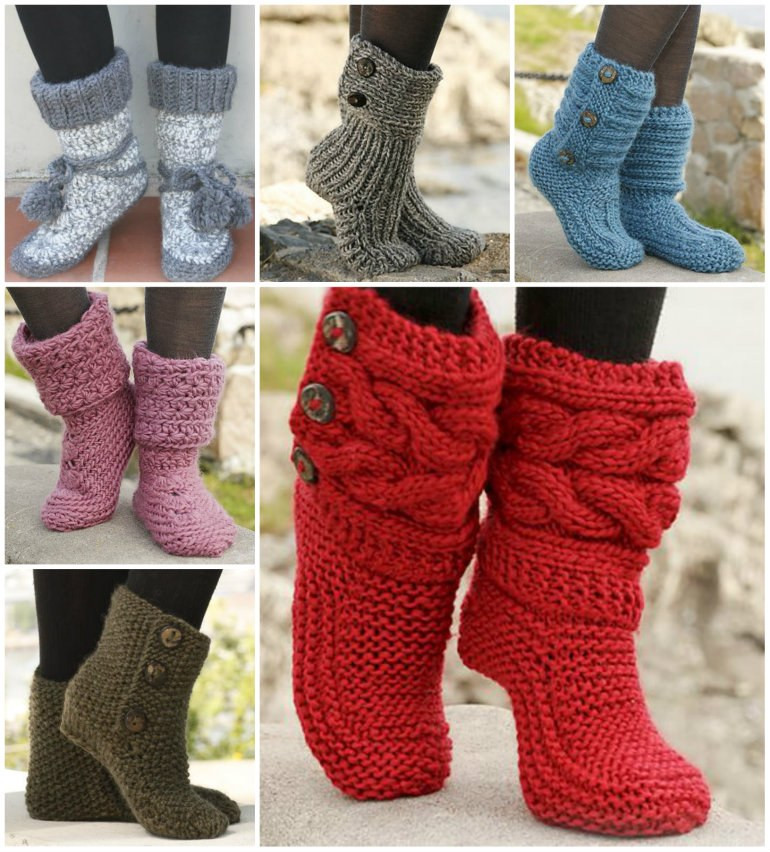 Luxury Knitted Slipper Boots Knitted Slipper Boots Of Superb 41 Pics Knitted Slipper Boots