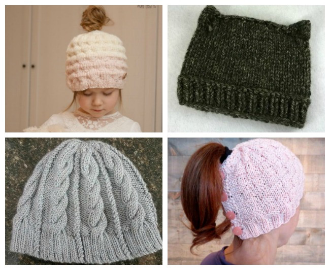 Luxury Knitting Fashion Trends for 2017 Knit Ponytail Hat Pattern Of Lovely 44 Ideas Knit Ponytail Hat Pattern