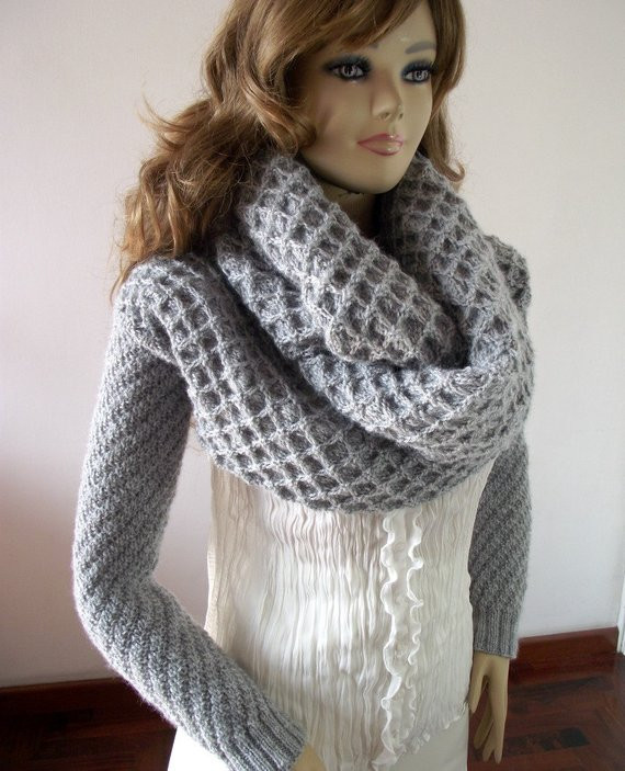 Luxury Knitting Pattern Scarf Sleeve Big Scarf with Long Sleeves Scarf with Sleeves Of Lovely 40 Models Scarf with Sleeves