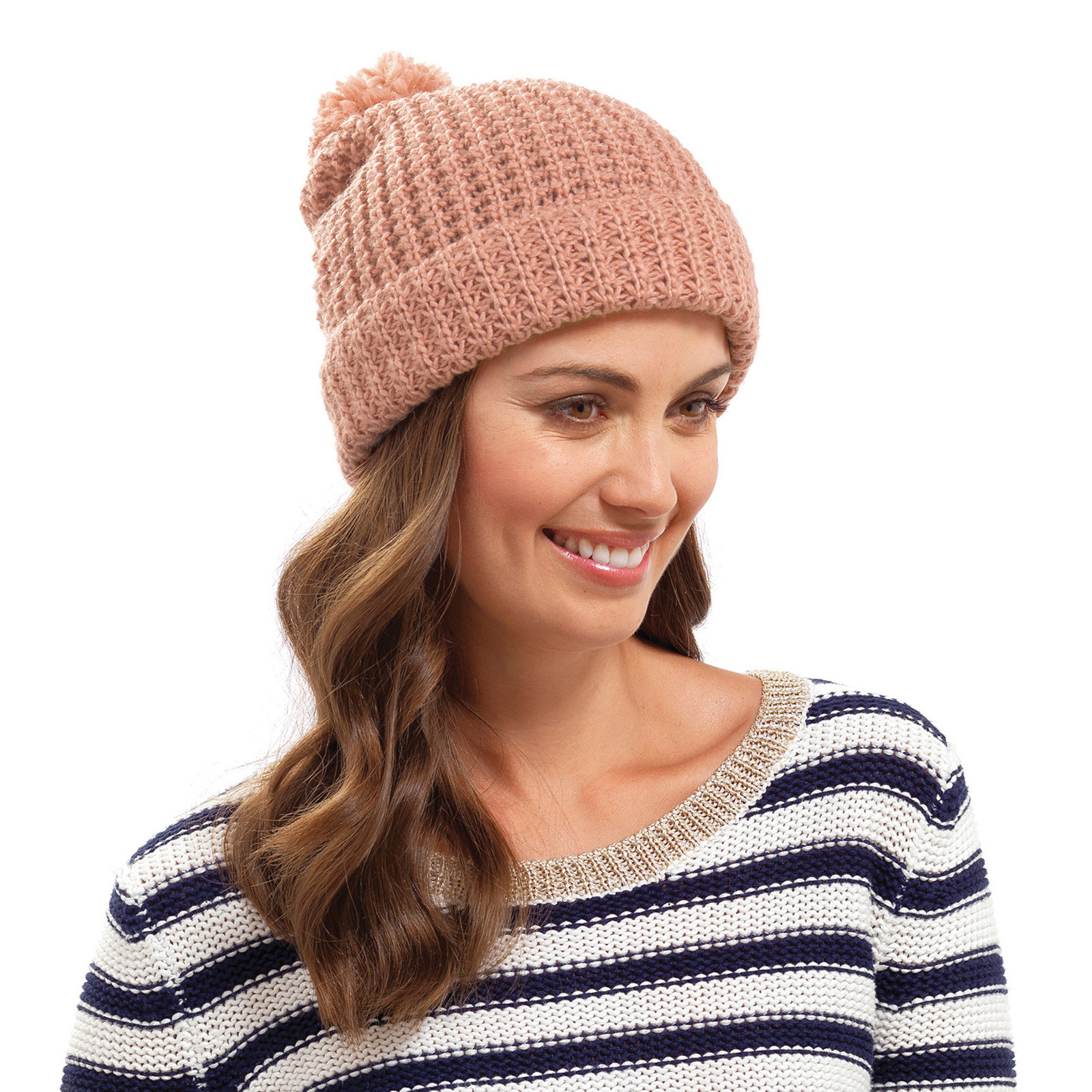 Luxury La S Chunky Knit Hat Pom Pom Bobble Beanie Winter Ladies Knitted Hats Of Adorable 50 Pictures Ladies Knitted Hats