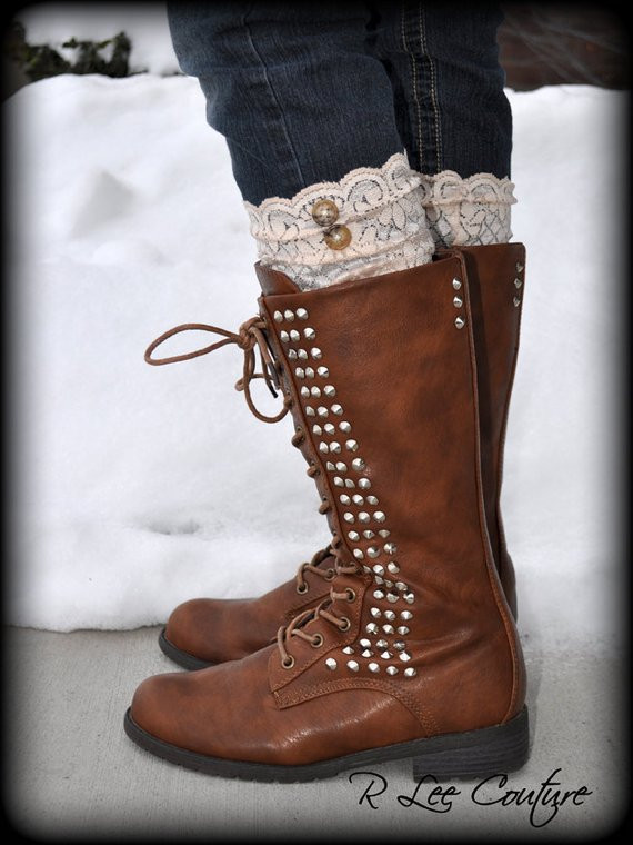 Luxury Lace Boot Cuffs Faux Lace Boot socks Faux Lace by Rleecouture Lace Boot Cuffs Of Awesome 50 Pictures Lace Boot Cuffs