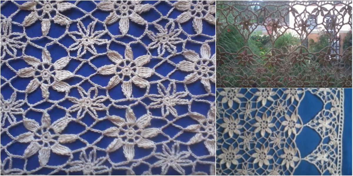 Luxury Lace Curtain In Crochet Lace [free Pattern & Video Free Crochet Curtain Patterns Of Attractive 50 Models Free Crochet Curtain Patterns