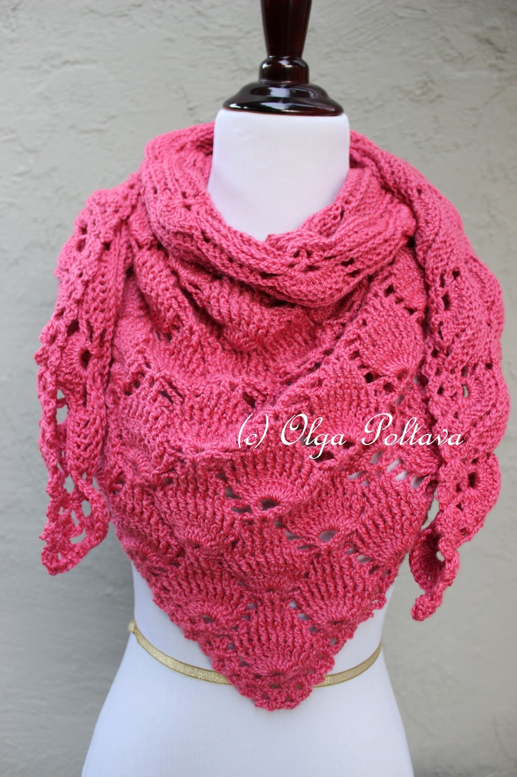 Luxury Lacy Crochet Bright Pink Shells Crochet Scarf Crochet Lace Of Amazing 43 Photos Crochet Lace