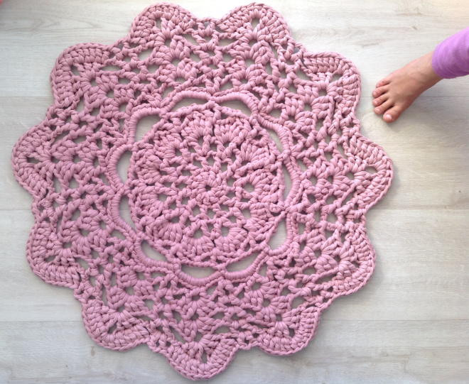 Luxury Lacy Doily T Shirt Yarn Rug T Shirt Rug Crochet Of Amazing 48 Pics T Shirt Rug Crochet