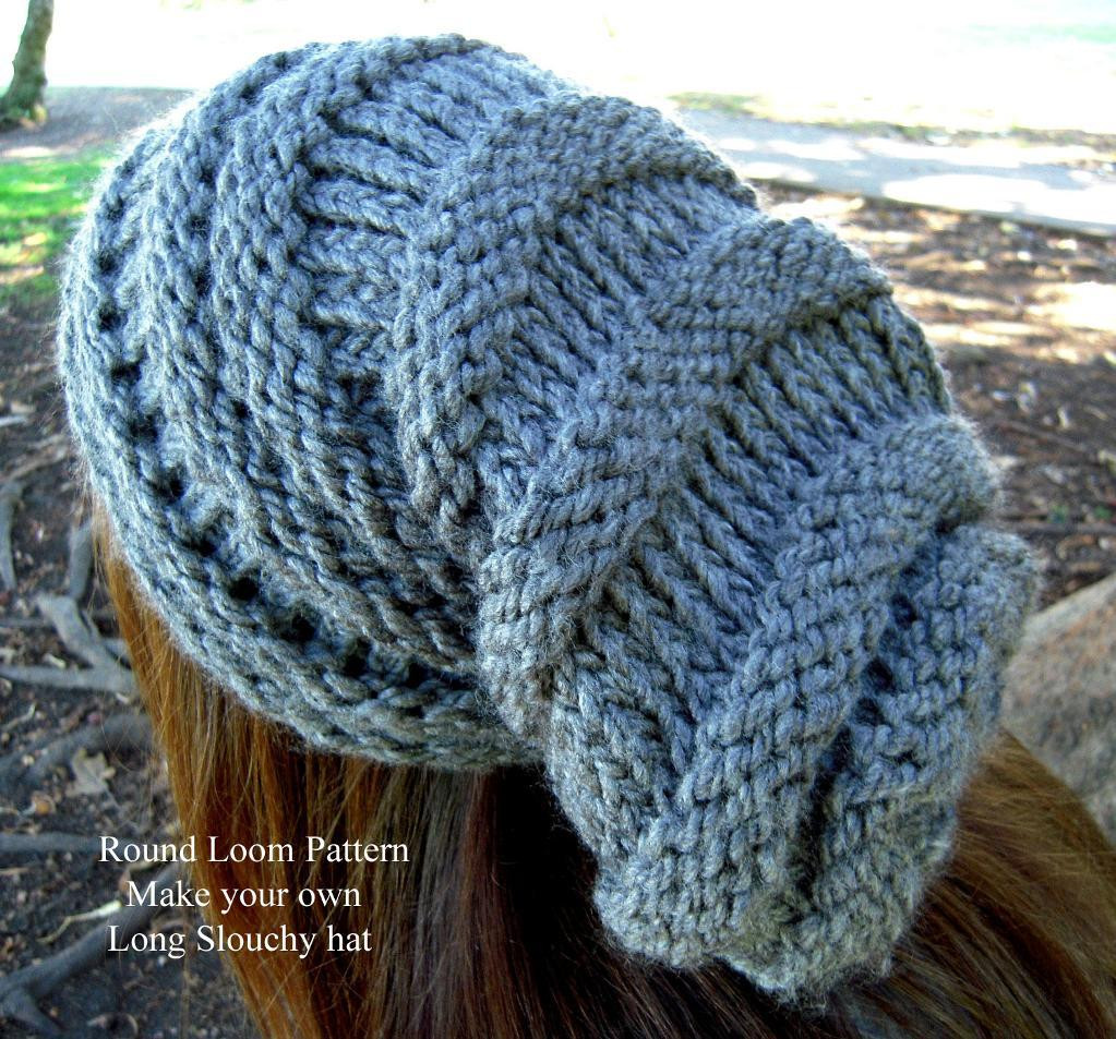 Luxury Loom Knit Slouchy Hat Patterns Making A Hat On A Loom Of Attractive 43 Pics Making A Hat On A Loom
