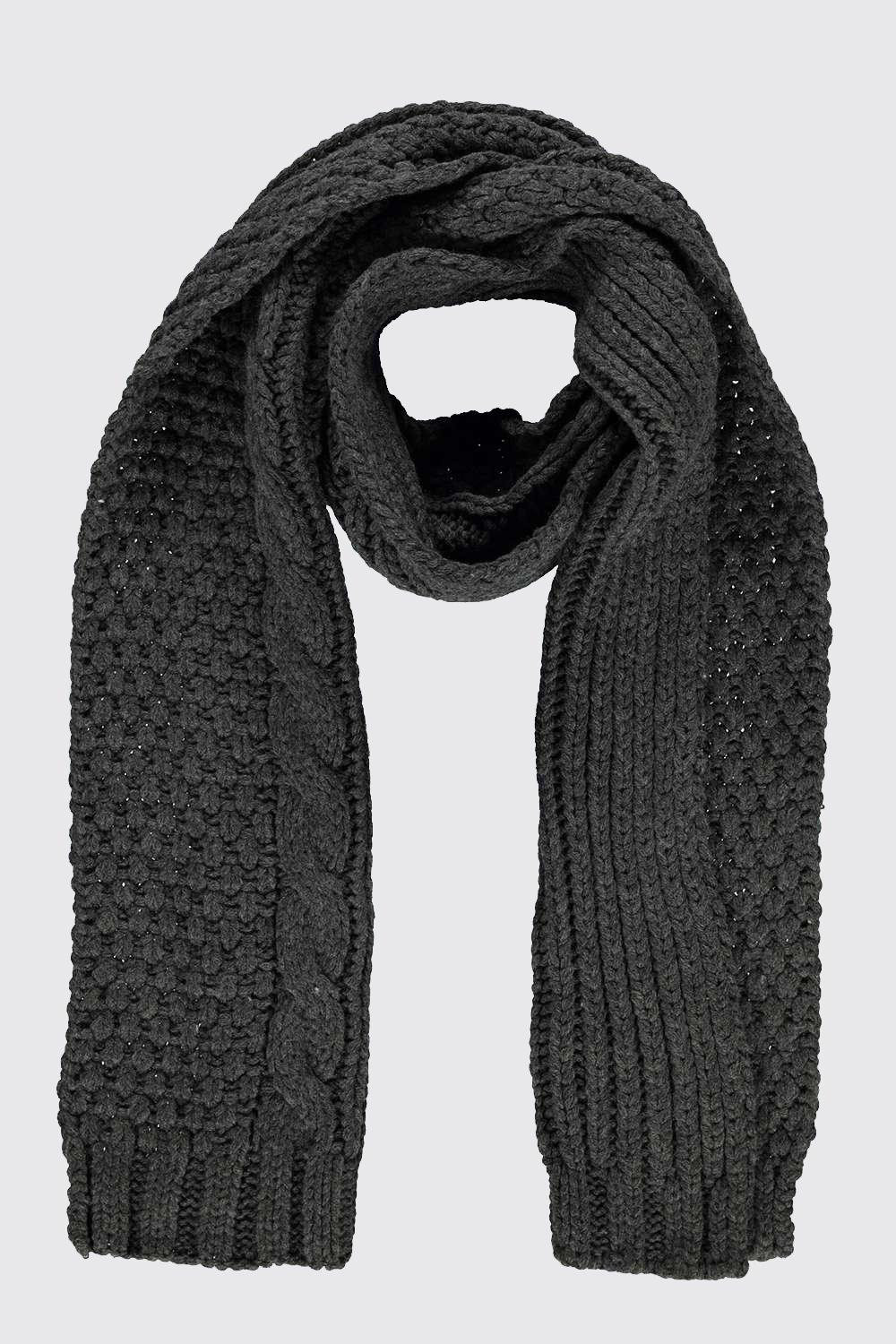 Luxury Lyst Boohoo Cable Knit Luxe Scarf In Black for Men Cable Knit Scarf Of Delightful 48 Ideas Cable Knit Scarf