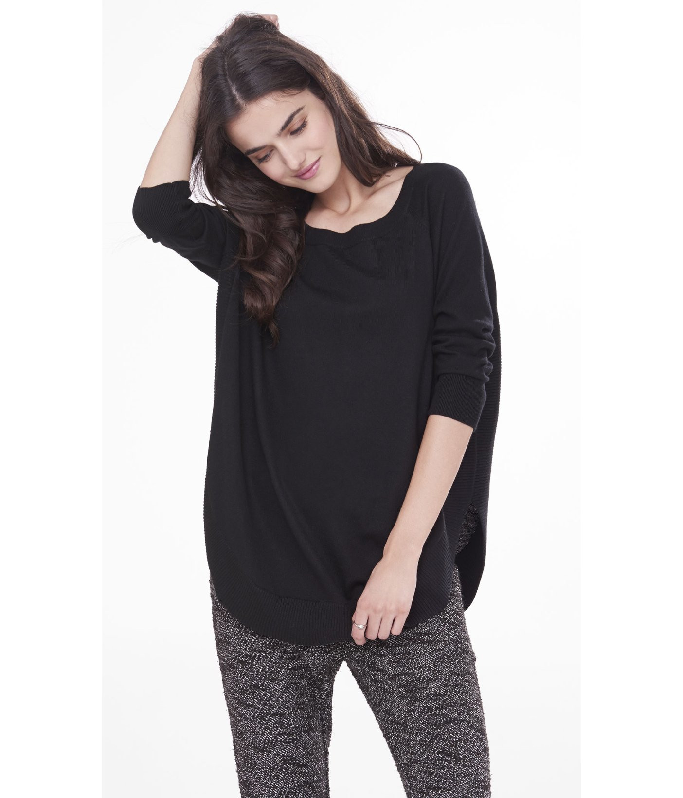 Luxury Lyst Express Extreme Circle Hem Tunic Sweater In Black Circle Sweater Of Innovative 50 Ideas Circle Sweater