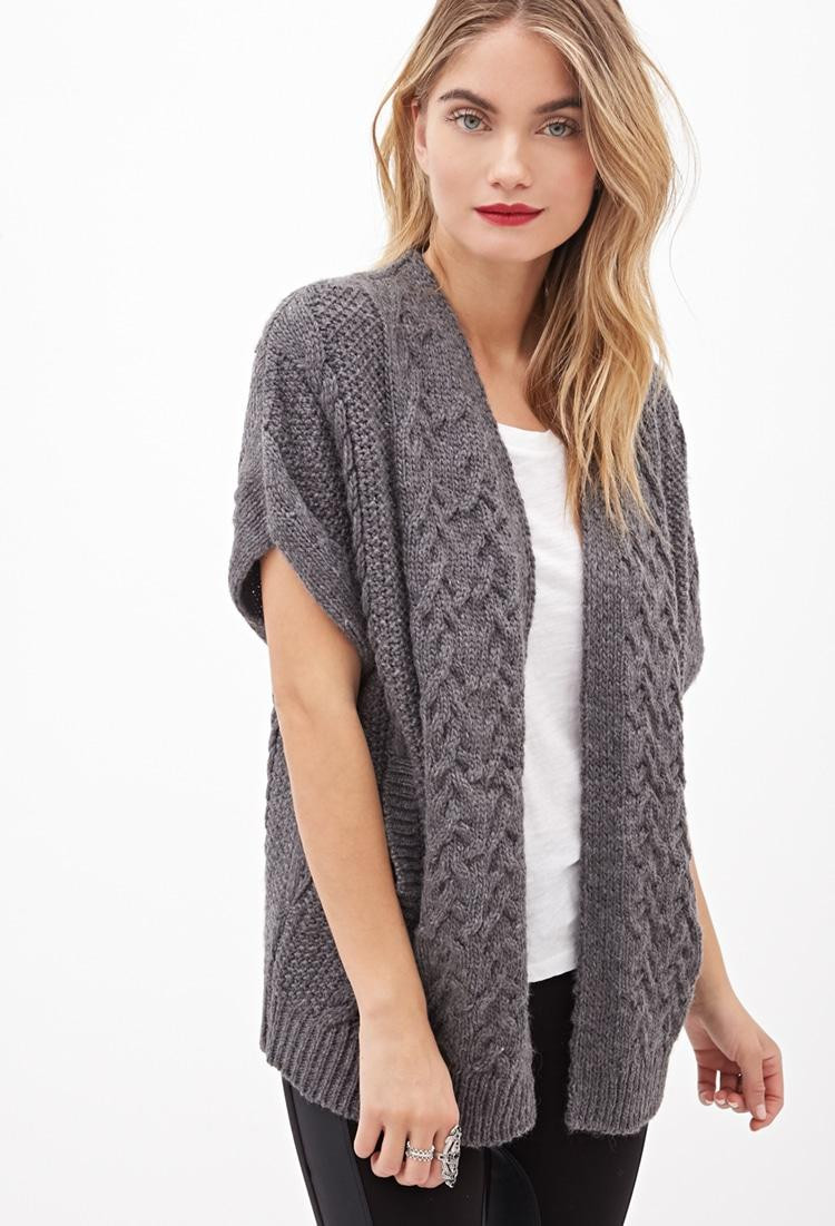 Luxury Lyst forever 21 Contemporary Cable Knit Shrug Cardigan Knit Shrug Of Fresh 48 Ideas Knit Shrug