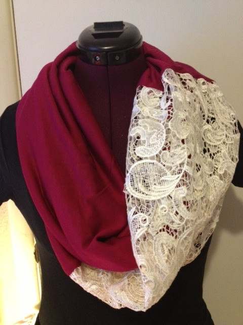 Luxury Mary S Crafts & Quilts Easy Diy Lace Infinity Scarf Lace Infinity Scarf Of Charming 45 Ideas Lace Infinity Scarf