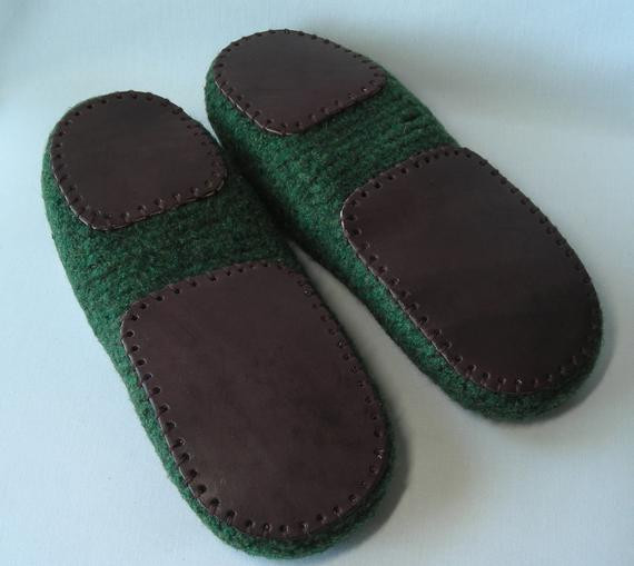 Luxury Men S Leather Slipper soles for Knitted Crochet Felted Crochet Slippers with soles Of New 43 Photos Crochet Slippers with soles