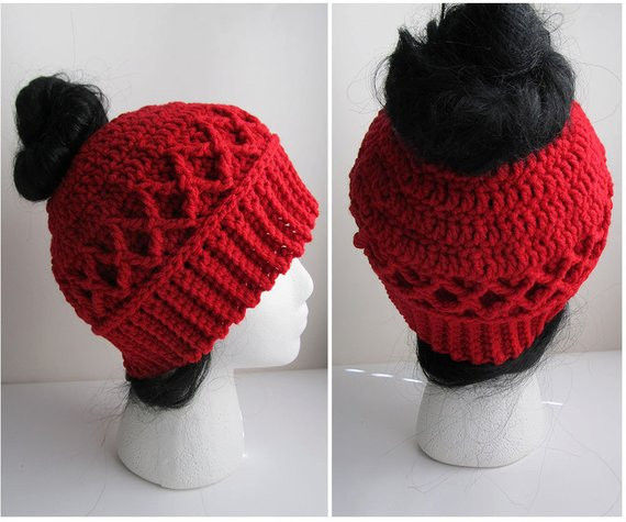 Luxury Messy Bun Hat Crochet Pattern Pattern for Crochet Ponytail Bun Beanie Crochet Pattern Of Charming 42 Pics Bun Beanie Crochet Pattern