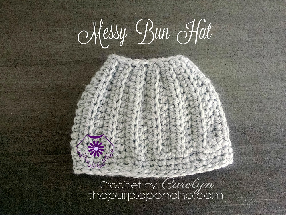 Luxury Messy Bun Hat – Free Crochet Pattern – the Purple Poncho Free Crochet Pattern for Messy Bun Hat Of Beautiful 47 Ideas Free Crochet Pattern for Messy Bun Hat