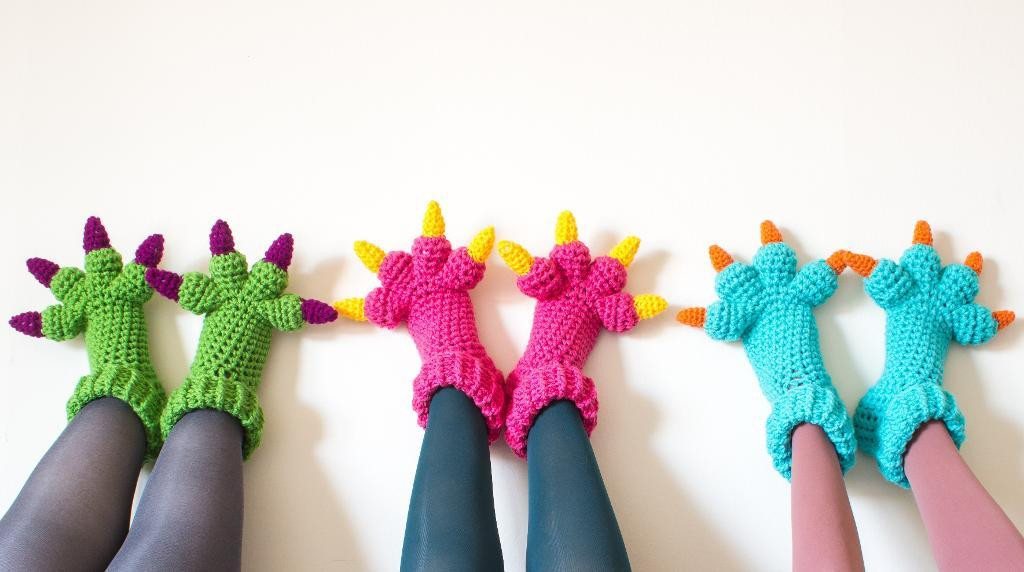 Monster Slippers Crochet Pattern by Knits for Life Craftsy