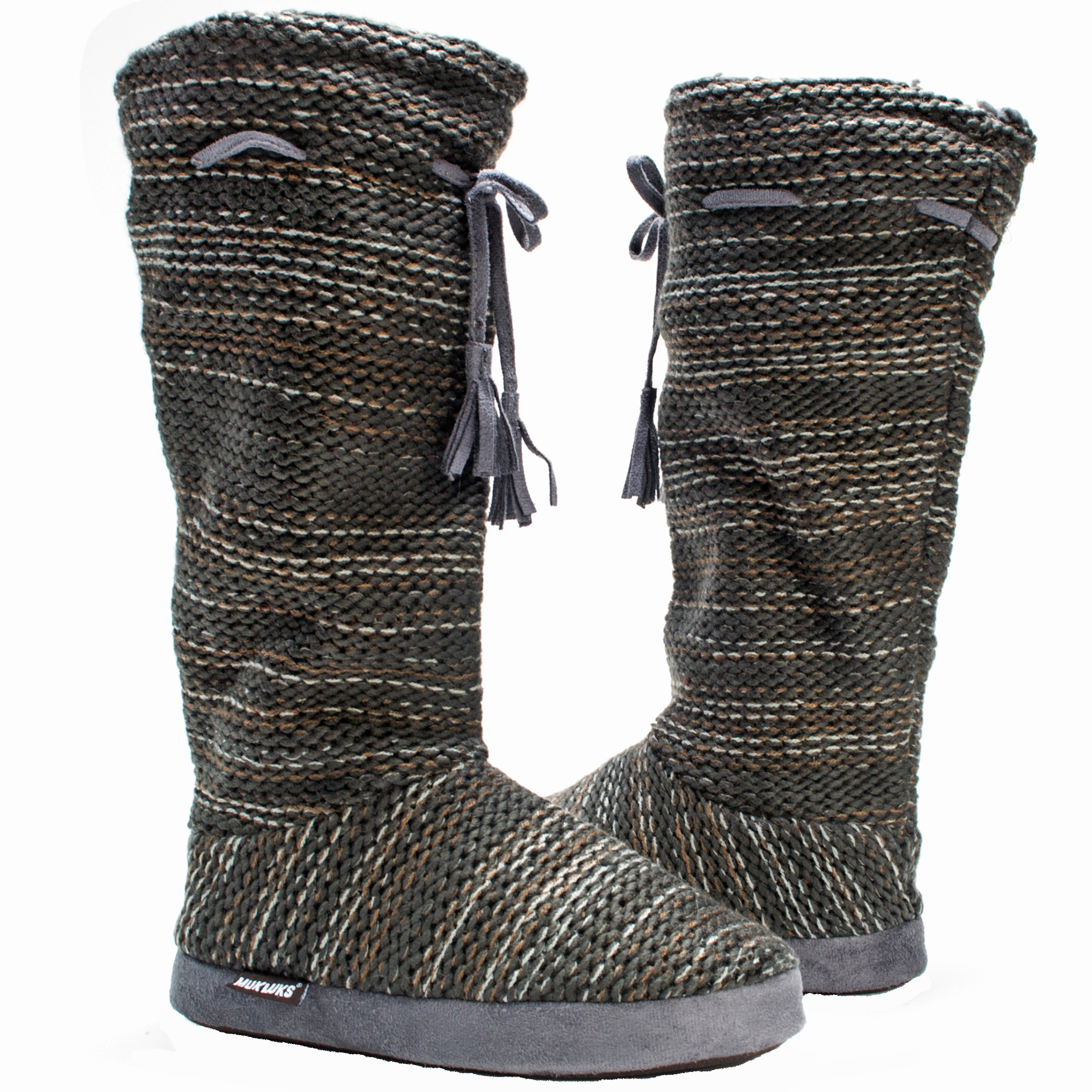 Muk Luks Grommet Women s Slipper Knit Sweater Boots Sherpa