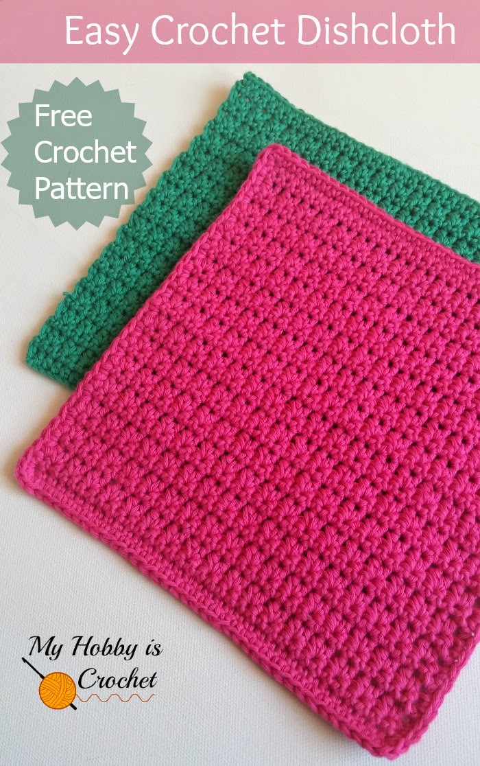 easy crochet dishcloth free crochet