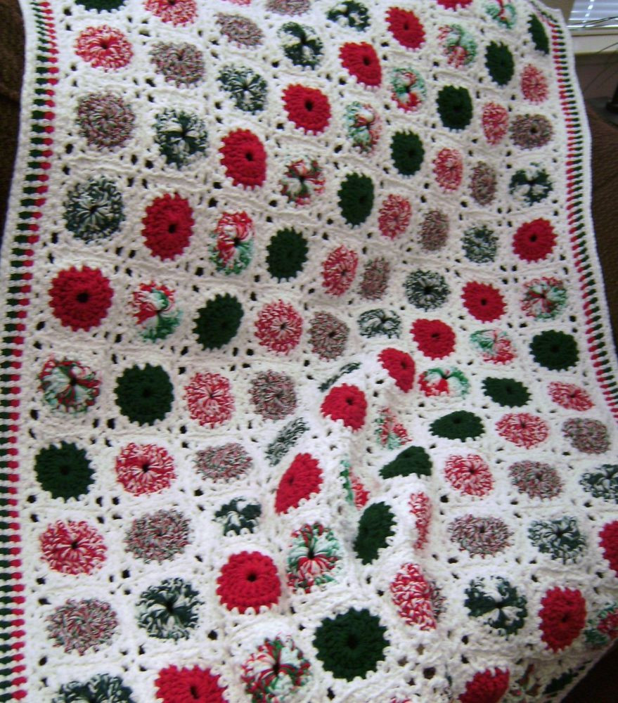 Luxury New Hand Crochet Christmas Peppermint Cotton Afghan Peppermint Crochet Blanket Of Top 45 Models Peppermint Crochet Blanket