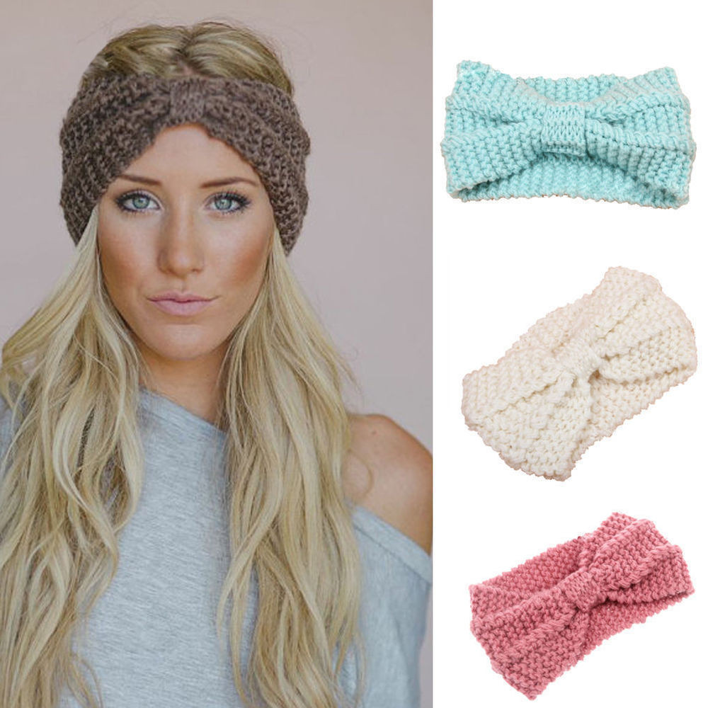 New women s knit headband crochet winter warmer lady