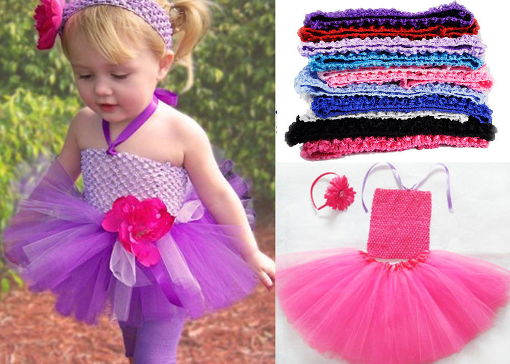 Luxury Newborn Baby Girls Children Crochet Waffle Headband Petti Crochet tops for Tutus Of Adorable 45 Models Crochet tops for Tutus