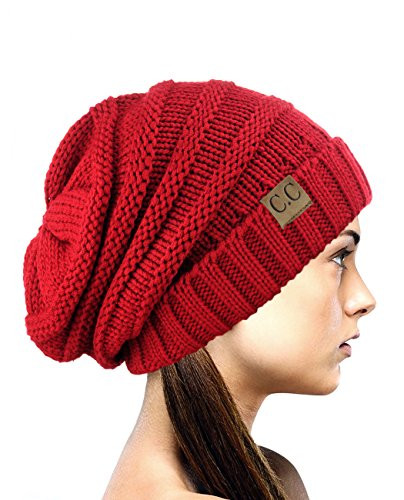 Luxury Nyfashion101 Exclusive Oversized Baggy Slouchy Thick Red Slouchy Beanie Of New 50 Models Red Slouchy Beanie