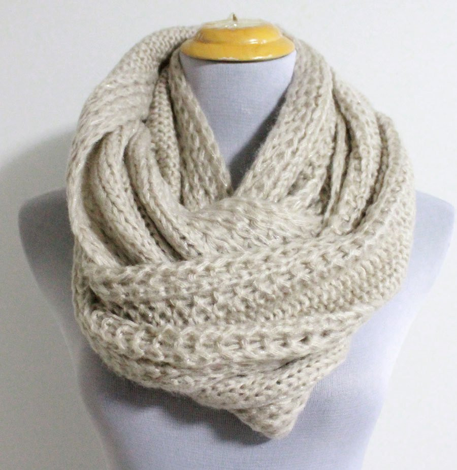 Luxury Oatmeal Chunky Knit Infinity Scarf Cozy Winter by Chunky Knit Scarf Pattern Of Adorable 50 Ideas Chunky Knit Scarf Pattern